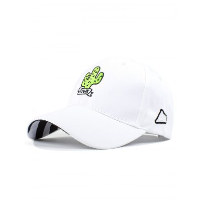 Cactus Embroidery Baseball Hat For Women