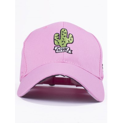 Stylish Cactus Embroidery Baseball Hat For Women