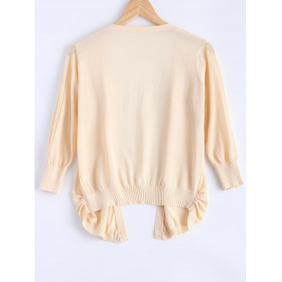 Simple Candy Pure Color Semi Sheer Cardigan