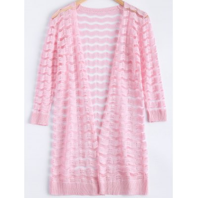 Candy Pure Color Semi Sheer Cardigan
