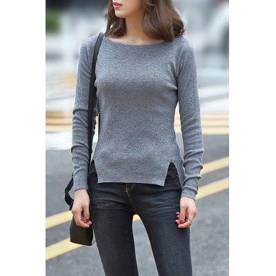 Knitting Side Slit Sweater