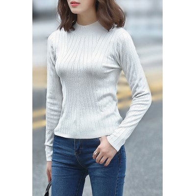 Fitting Solid Color Knitwear