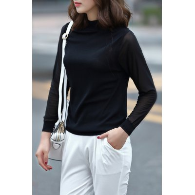 Solid Color Fitting Knitwear