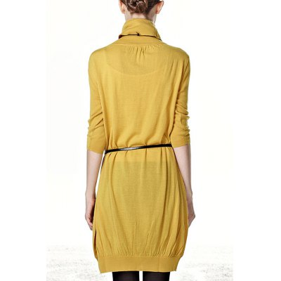 solid-color-ruched-long-sweater