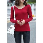 Knitting Solid Color Sweater deal