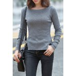 Knitting Side Slit Sweater deal
