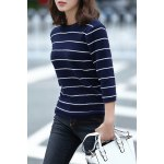 cheap Loose Striped Fuzzy Knitting Sweater