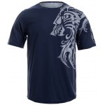 Tattoo Style Tiger Print Round Neck Short Sleeve T-Shirt For Men