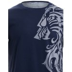 Tattoo Style Tiger Print Round Neck Short Sleeve T-Shirt For Men for sale