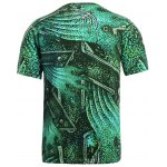 3D Geometric and Print Round Neck Short Sleeve T-Shirt For Men deal