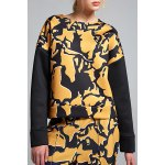 Space Cotton Printed Drop Shoulder Sweatshirt