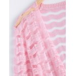 Simple Wave Stripe Candy Pure Color Semi Sheer Cardigan for sale