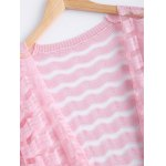 Simple Wave Stripe Candy Pure Color Semi Sheer Cardigan deal