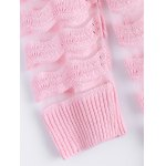 best Simple Wave Stripe Candy Pure Color Semi Sheer Cardigan