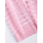 Simple Wave Stripe Candy Pure Color Semi Sheer Cardigan photo