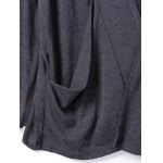 Shawl Collar Pockets Solid Color Long Sleeves Cardigan for sale