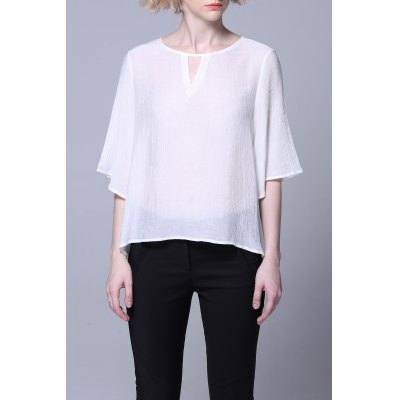 Bell Sleeve See-Through Tee