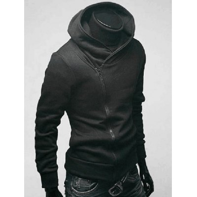 IZZUMI Side Zip Up Long Sleeve Neck Hoodie