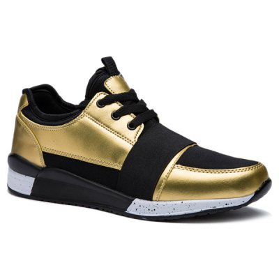 Fashion Elastic Band and Metallic Color Design Athletic Shoes For Men