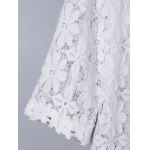 Sweet 3/4 Sleeve Lace Long Cardigan For Women for sale
