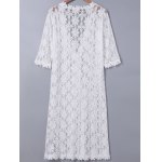 cheap Sweet 3/4 Sleeve Lace Duster Coat For Women