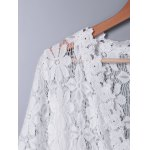 Sweet 3/4 Sleeve Lace Long Cardigan For Women deal