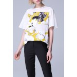 Floral Spliced Pullover Tee