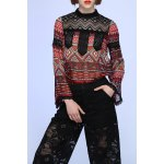 Bell Botton Sleeve Lace Spliced Tee deal