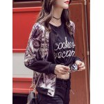 cheap Stand Collar Splicing Bomber Jacket