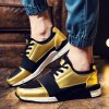 cheap Fashion Elastic Band and Metallic Color Design Athletic Shoes For Men