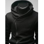 cheap Side Zip Up Long Sleeve Plain Hoodie For Men