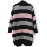 cheap Fashion Long Sleeve Striped Thicken Cardigan For Women