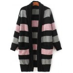 Fashion Long Sleeve Striped Thicken Cardigan For Women
