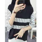 cheap Striped High Low T-Shirt