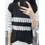 Striped High Low T-Shirt