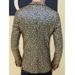 Floral Hot Stamping Printing Lapel Long Sleeve Blazer For Men deal