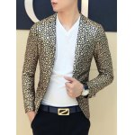cheap Floral Hot Stamping Printing Lapel Long Sleeve Blazer For Men