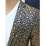 Floral Hot Stamping Printing Lapel Long Sleeve Blazer For Men for sale