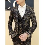 cheap Ornate Hot Stamping Printing Lapel Long Sleeve Blazer For Men