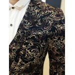 Ornate Hot Stamping Printing Lapel Long Sleeve Blazer For Men for sale