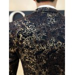 best Ornate Hot Stamping Printing Lapel Long Sleeve Blazer For Men