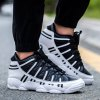 best Fashionable Stripes and Lace-Up Design Athletic Shoes For Men