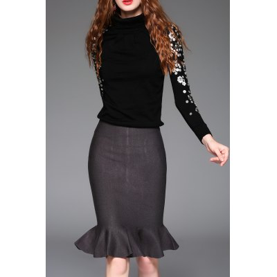 Sequined Sweater and Mermaid Skirt
