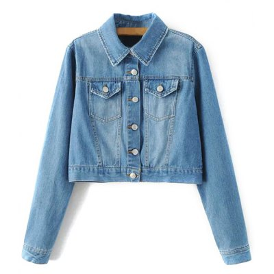 Embroidered Back Denim Jacket