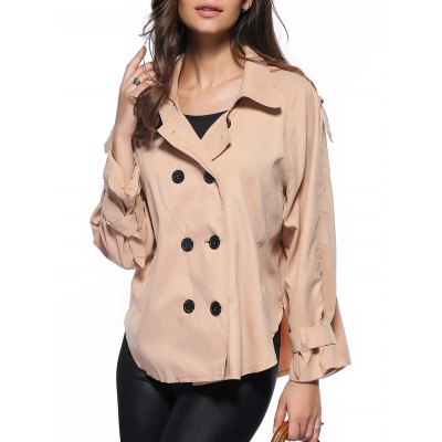 Double-Breasted Loose Trench Coat