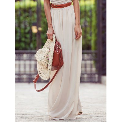 Solid Color Maxi Skirt  For Women