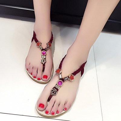 Casual Metal and Weaving Design Sandals For Women