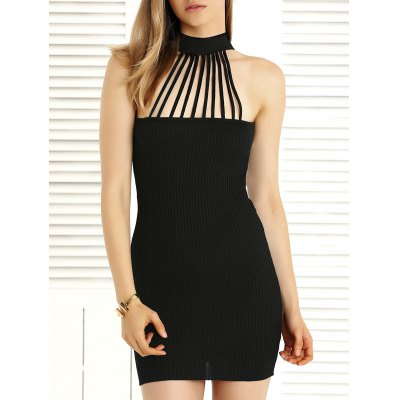 Hollow Out Convertible Knitted Dress For Women