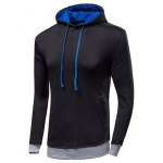 cheap Color Block Loose-Fitting Long Sleeve Hoodie For Men