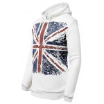cheap M Word Print Drawstring-hood Long Sleeve Pullover Hoodie For Men